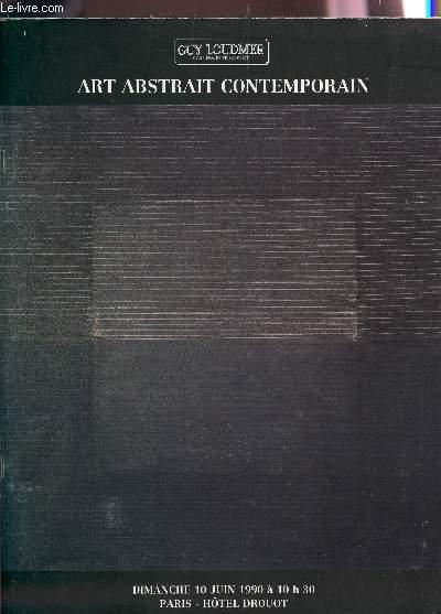 ART ABSTRAIT CONTEMPORAIN - VENTE AUX ENCHERES LE 10 JUIN 1990 - HOTEL DROUOT.
