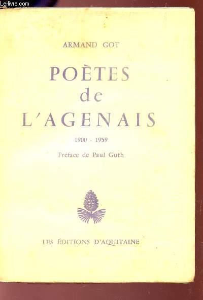 POETES DE L'AGENAIS - 1900-1959.