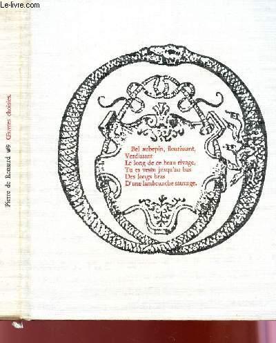 PIERRE DE RONSARD - OEUVRES CHOISIES / VOLUME 4 DE LA COLLECTION POESIE.