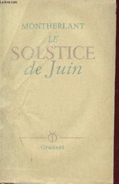 LE SOLSTICE DE JUIN.