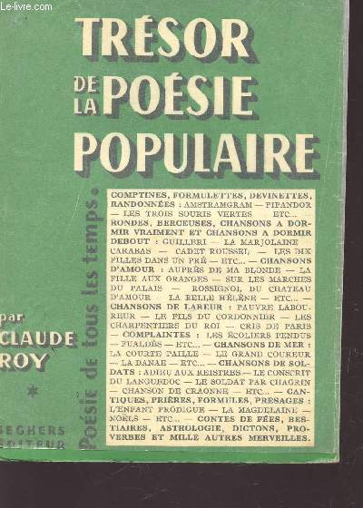 TRESOR DE LA POESIE POPULAIRE / COLLECTION