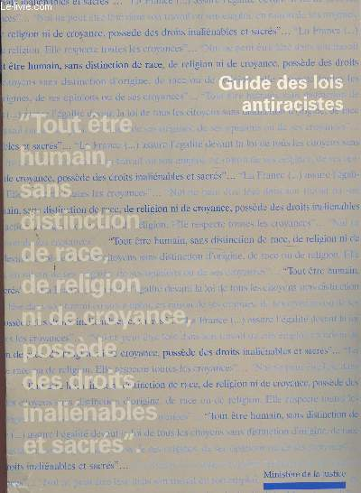 GUIDE DES LOIS ANTIRACISTES.