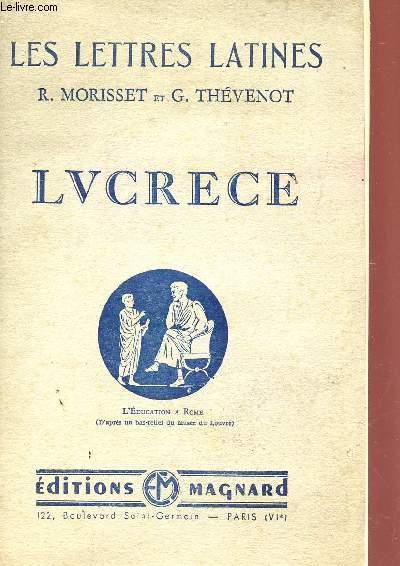 LUCRECE - CHAPITRE VIII / COLLECTION LES LETTRES LATINES.