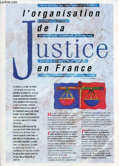 L'ORGANISATION DE LA JUSTICE EN FRANCE - PLAQUETTE DE PRESENTATION.