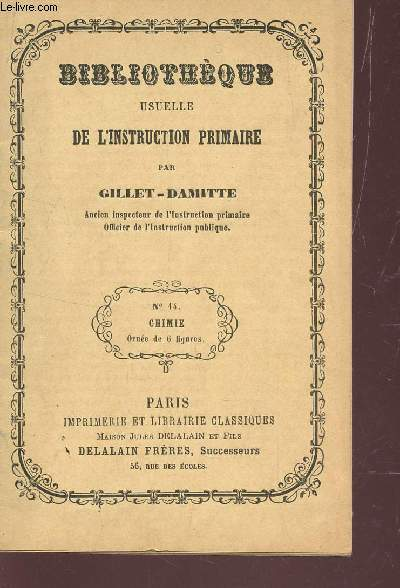 BIBLIOTHEQUE USUELLE DE L'INSTRUCTION PRIMAIRE -