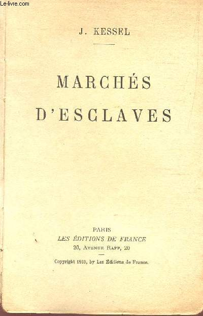 MARCHES D'ESCLAVES.