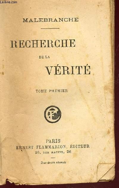 RECHERCHE DE LA VERITE -