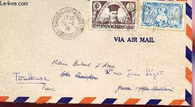 1 ENVELOPPE TIMBREE ET OBLITEREE - EPOQUE VIENT MINH - JUIN 1946 AFFRANCHISSEMENT  - TIMBRES POSTES ONDOCHINE ET VIET PAS COURANT.