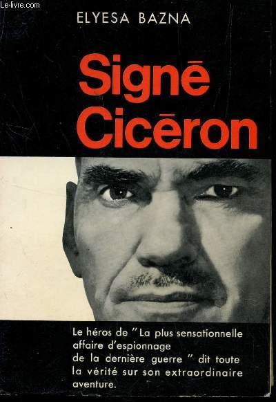 SIGNE CICERON .
