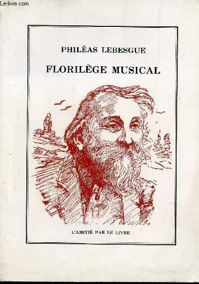 FLORILEGE MUSICAL.