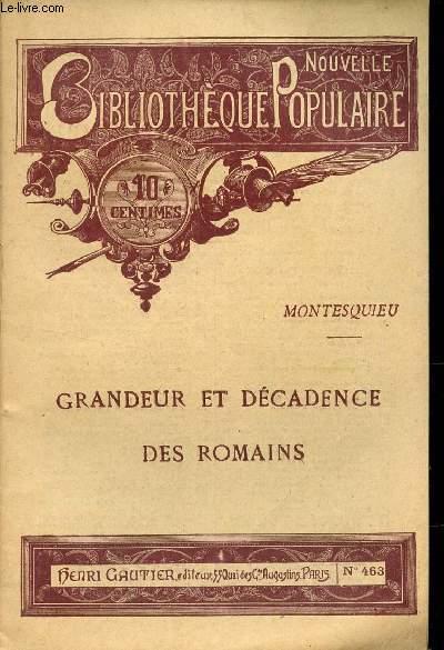 GRANDEUR ET DECADENCE DES ROMAINS / COLLECTION