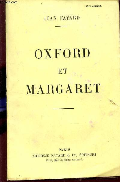 OXFORD ET MARGARET.