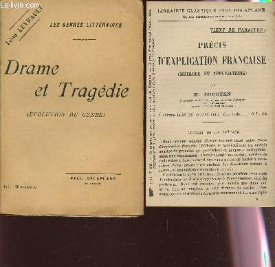 DRAME ET TRAGEDIE - EVOLUTION DU GENRE / COLLECTION