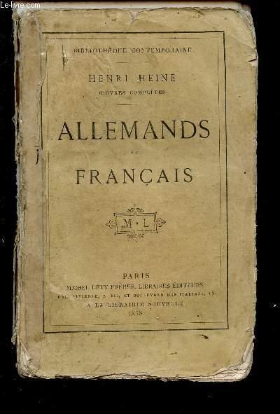 ALLEMANDS ET FRANCAIS / COLLECTION BIBLIOTHEQUE CONTEMPORAINE.
