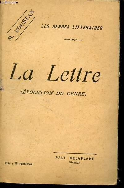 LA LETTRE - (EVOLUTION DU GENRE) / COLLECTION