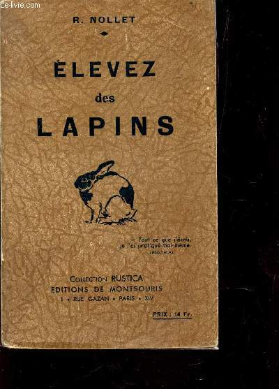 ELEVEZ DES LAPINS / COLLECTION RUSTICA.