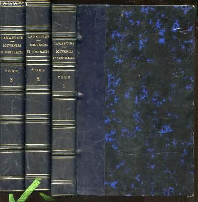 SOUVENIRS ET PORTRAITS  / EN 3 VOLUMES : TOMES I + II +III.
