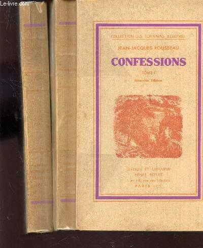 CONFESSIONS - EN 2 VOLUMES : TOME PREMIER + TOME SECOND  / COLLECTION DES ECRIVAINS ILLUSTRES.
