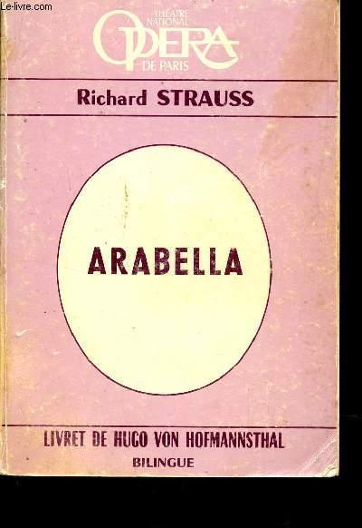 ARABELLA - LIVRET DE HUGO VON HOFMANNSTHAL / BILINGUE FRANCAIS ALLEMAND / COLLECTION