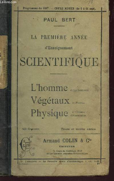 LA PREMIERE ANNEE D'ENSEIGNEMENT SCIENTIFIQUE /