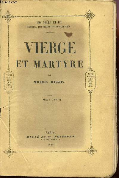 VIERGE ET MARTYRE / COLLECTION