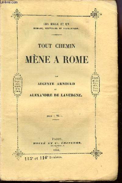 TOUT CHEMIN MENE A ROME / COLLECTION