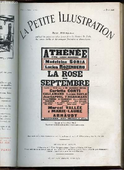 LA PETITE ILLUSTRATION - N°289 - THEATRE N°164 - 12 JUIN 1926 / LA ROSE DE SEPTEMBRE - COMEDIE EN TROIS ACTES.