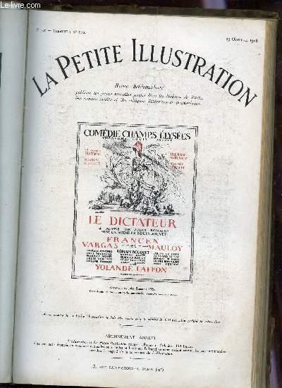 LA PETITE ILLUSTRATION - N°306 - THEATRE N°170 - 23 OCTOBRE 1926 / LE DICTATEUR - PIECE EN QUATRE ACTES.