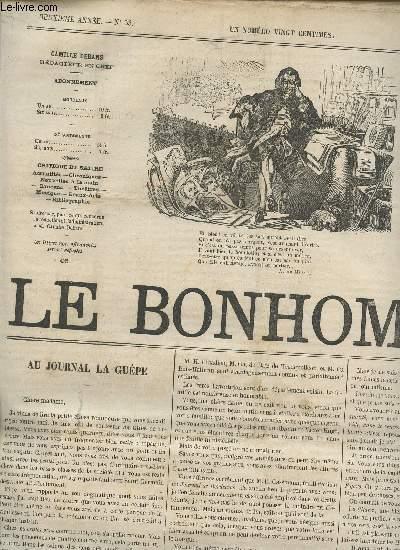 LE BONHOMME - 2e ANNEE - N°53 - 10 MARS 1865 / AU JOURNAL DE LA GUEPE - VALSEUR ET VALSEUSE - CORRESPONDACE - M. ELLIACIM JOURDAIN - DEBUT DE Melle MEYRONNET - GYMNASE DRAMATIQUE - DE OMNIBUS - ETC....