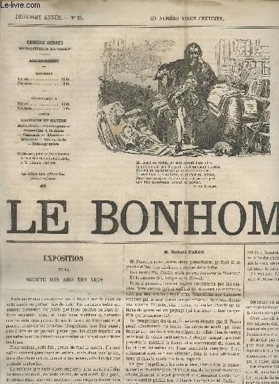 LE BONHOMME - 2e ANNEE - N°56 - 9 AVRIL 1865 / EXPOSITION DE LA SOCIETE DES AMIS DES ARTS (M. GUDIN - FAXON R - CHAGOT - MOREL-FATIO ...) - SOCIETE DE LA MUSIQUE DE CHAMBRE - ANCIENS ET MODERNES - MA SEMAINE - GRAND THEATRE - LA MARQUISE DE SENNETERRE ...