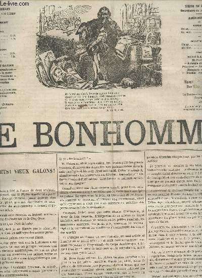 LE BONHOMME - 2e ANNEE - N°57 - 1 AVRIL 1865 / VIEUX HABITS : VIEUX GALGONS! - EXPOSITION DE LA STE DES AMIS DES ARTS - LES CAPRICES DE ROSINE - NOTES D'UNE VIELLE FILLE - LE PETIT CHAPERON ROUGE - MADAME AUBERT - DE OMNIBUS - BIOBLIOGRAPHIE ETC....
