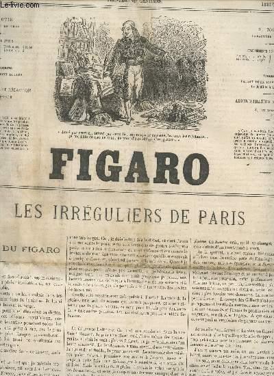 LE FIGARO - 12e ANNEE - 13 AVRIL 1865 / LES IRREGULIERS DE PARIS - TOURNOI DU FIGARO - FONTAN CRUSOE - POUPELIN DIT MES PAPIERS - M. CHAQUE, ORIENTALISTE, ANCIEN PALLICARE - MES CAMPAGNES EN GRECE - ....