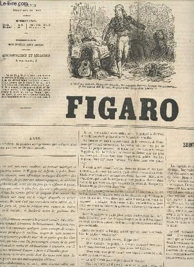 LE FIGARO - 12e ANNEE - 30 AVRIL 1865 / SAINT HIPPOLYTE L'ECARTELE - SAINT SIMEON STYLITE - LES SAINTS EVANGELISTES - LES LEGENDES BRETONNES - MES SAINTS - SAINT JEAN LE PRECURSEUR - LES SEPT DORMANTS - SAINT JACQUES - PROFILS PERDUS - L'AUTOGRAPHE ETC...