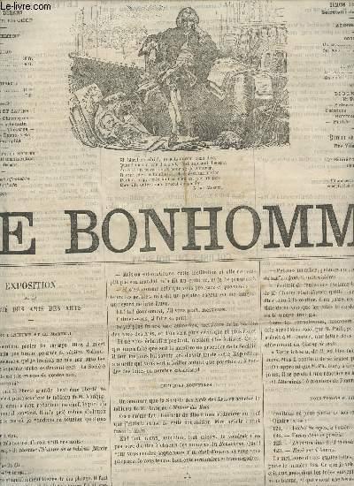 LE BONHOMME - 2e ANNEE - N°60 - 7 MAI 1865 / EXPOSITION DE LA SOCIETE DES AMIS DES ARTS - COURSES DU BOUSCAT - LETTRES A M. LE MAIRE - LANDEROSES - CUEILLETTE -  GANZONETTA - GRAND THEATRE - THEATRE FRANCAIS - OMNIBUS ETC....