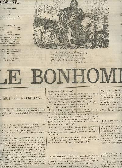 LE BONHOMME - 2e ANNEE - N°63 -21 MAI 1865 / LA VERITE SUR L'AFRICAINE - NOS PEAUS DE CHIENS - SOUVENIRS D'ENFANCE - LA FOIRE SAINT FORT - GRAND THEATRE - CUEILLETTE - DE OMNIBUS ETC...
