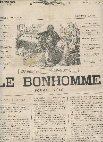 LE BONHOMME (FORMAT D'ETE) - 2e ANNEE - N°64 -4 JUIN 1865 / A QUI LA FAUTE? - LES BOUFFES PARISIENS - HISTOIRE D'UN COR - GRAD THEATRE - DEJAZET ET L'ALCAZAR - ECHOS ..