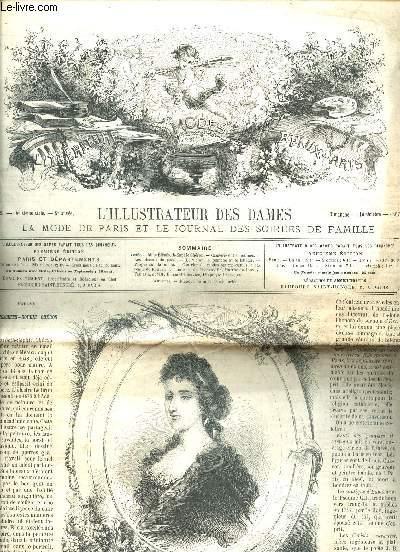 L'ILLUSTRATEUR DES DAMES, LA MODE DE PARIS ET LE JOURNAL DES SOIREES DE FAMILLE / N°2 - éE SERIE - 8e ANNEE - 12 OCTOBRE 1867 / ELISABETH-SOPHIE CHERON / PROPOS SUR LA MODE - PLANCHE DE LINGERUE / CAUSERIE ENTRE FEMMES - ....