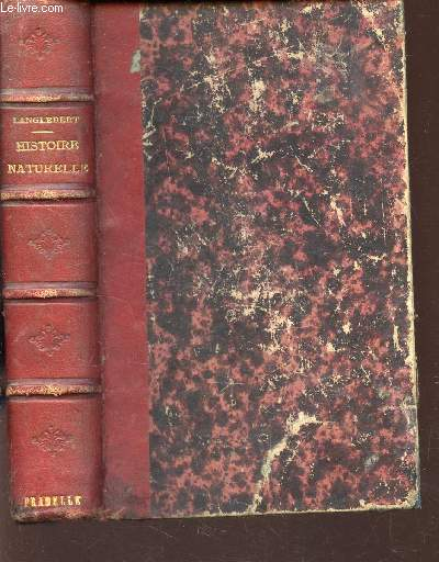 HISTOIRE  NATURELLE / COURS ELEMENTAIRE D'ETUDES SCIENTIFIQUES / 38e EDITION.