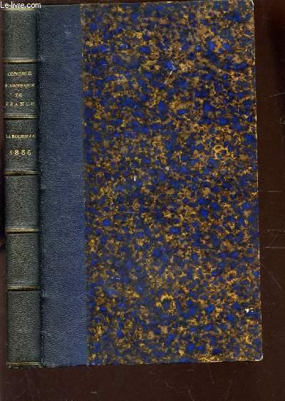 CONGRES SCIENTIFIQUE DE FRANCE - XXIIIe SESSION, TENUE DE LA ROCHELLE, EN SEPTEMBRE 1856 / TOME PREMIER.