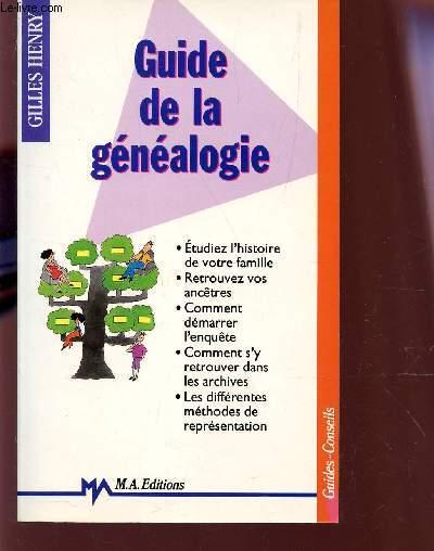 GUIDE DE LA GENEAOLOGIE.
