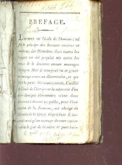 ABREGE DE LA GRECE INCLUANT UN DICTIONNAIRE (EPITOME HISTORIAE GRAECAE).