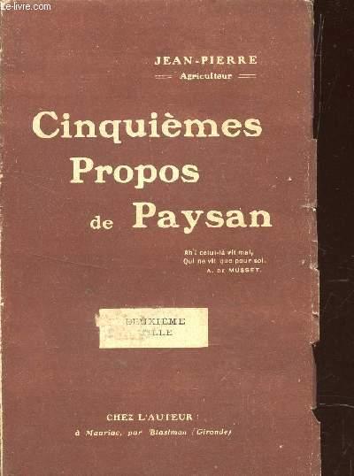CINQUIEMES PROPOS DE PAYSAN.
