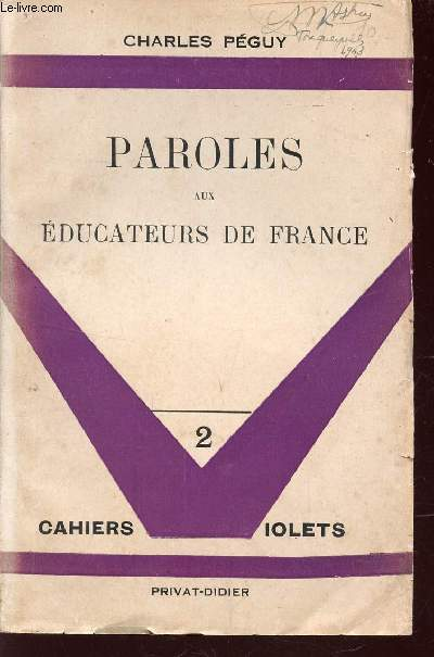 PAROLES AUX EDUCATEURS DE FRANCE - COLLECTION
