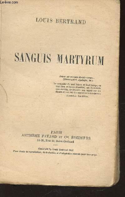 SANGUIS MARTYRUM.