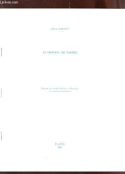 LE CHATEAU DE VAYRES - EXTRAIT DU