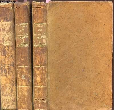 THEATRE DE J. RACINE / EN 3 VOLUMES :  TOME I + TOME II + TOME III.