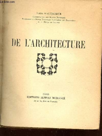 DE L'ARCHITECTURE.