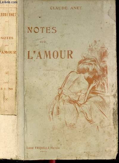 NOTES SUR L'AMOUR