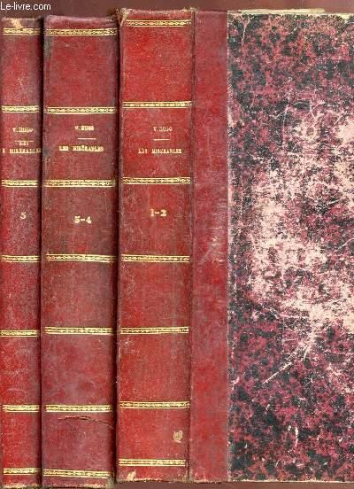 LES MISERABLES - EN 3 VOLUMES / FANTINE + COSETTE (1er TOME 1) + MARIUS + L'IDYLLE RUE PLUMET (TOME 2) + JEAN VALJEAN (TOME 3).
