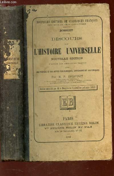DISCOURS SUR L'HISTOIRE UNIVERSELLE /Nouvelles editions de classique francais.